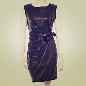 Diane Von Furstenberg leather tie dress